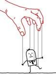 Uomo d'affari del fumetto - burattino Fotografia Stock Libera da Diritti