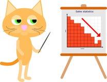 Uomo d'affari del gatto Fotografie Stock