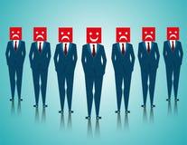 Uomo d'affari del gruppo con le espressioni facciali Fotografie Stock Libere da Diritti