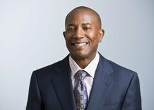 Uomo d'affari del maschio dell'afroamericano Fotografie Stock