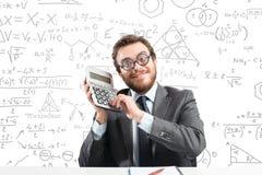 Uomo d'affari del nerd Immagine Stock