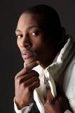 Uomo d'affari dell'africano nero Fotografie Stock
