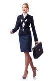 Uomo d'affari della donna isolato Fotografie Stock
