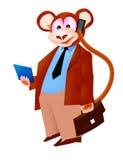 Uomo d'affari della scimmia Immagine Stock
