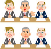Uomo d'affari delle riunioni e delle interviste Fotografia Stock