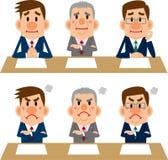 Uomo d'affari delle riunioni e delle interviste Fotografie Stock