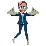 Uomo d'affari dello zombie Fotografia Stock Libera da Diritti