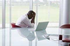 Uomo d'affari depresso Immagini Stock