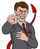 Uomo d'affari Devil Tail Immagine Stock Libera da Diritti
