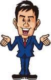 Uomo d'affari di commento Immagine Stock