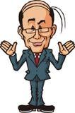 Uomo d'affari di commento Fotografia Stock