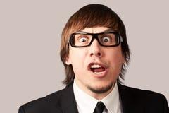 Uomo d'affari di grido Fotografie Stock Libere da Diritti