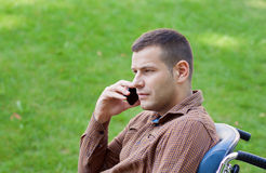Uomo d'affari di handicap fotografie stock libere da diritti
