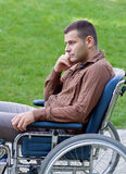 Uomo d'affari di handicap Fotografia Stock