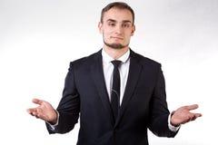 Uomo d'affari di mentalità aperta Fotografie Stock Libere da Diritti