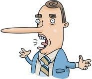 Uomo d'affari di menzogne royalty illustrazione gratis
