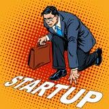 Uomo d'affari di partenza di concetto di affari Immagine Stock Libera da Diritti