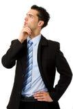 Uomo d'affari di pensiero Fotografia Stock