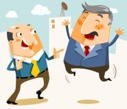Uomo d'affari di piacere sopra il profitto royalty illustrazione gratis