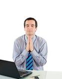Uomo d'affari di preghiera Fotografie Stock Libere da Diritti