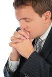 Uomo d'affari di preghiera Immagine Stock Libera da Diritti