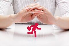Uomo d'affari di protezione (concetto) Fotografia Stock