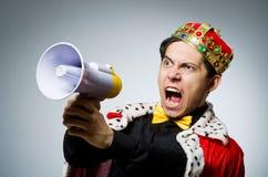 Uomo d'affari di re in divertente fotografie stock libere da diritti