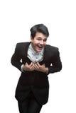 Uomo d'affari di risata Immagine Stock