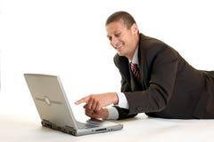 Uomo d'affari di risata Immagini Stock