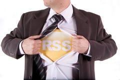 Uomo d'affari di RSS Fotografie Stock