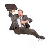 Uomo d'affari di salto fotografia stock