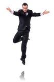 Uomo d'affari di salto Immagine Stock