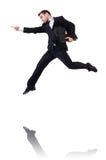 Uomo d'affari di salto Immagini Stock Libere da Diritti