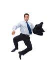 Uomo d'affari di salto Fotografie Stock