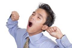 Uomo d'affari di sbadiglio annoiato Fotografia Stock Libera da Diritti