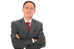 Uomo d'affari di sguardo serio Fotografia Stock Libera da Diritti