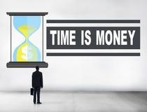 Uomo d'affari di vetro Alone Concept della sabbia dei soldi di tempo illustrazione vettoriale