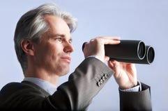 Uomo d'affari di visione Immagini Stock Libere da Diritti