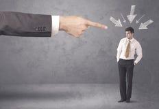 Uomo d'affari dilettante sotto pressione Immagine Stock