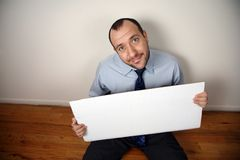Uomo d'affari disoccupato Fotografia Stock Libera da Diritti