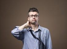 Uomo d'affari disordinato confuso Fotografia Stock Libera da Diritti