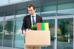 Uomo d'affari disperato ed infornato Fotografia Stock