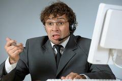 Uomo d'affari disturbato Immagini Stock Libere da Diritti