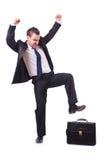 Uomo d'affari divertente Immagine Stock