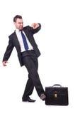 Uomo d'affari divertente Fotografie Stock