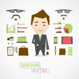 Uomo d'affari divertente del carattere royalty illustrazione gratis