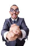 Uomo d'affari divertente del nerd Immagini Stock Libere da Diritti