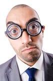 Uomo d'affari divertente della nullità Fotografia Stock Libera da Diritti