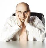 Uomo d'affari domandantesi Fotografia Stock