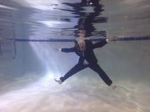 Uomo d'affari Drowning Fotografia Stock